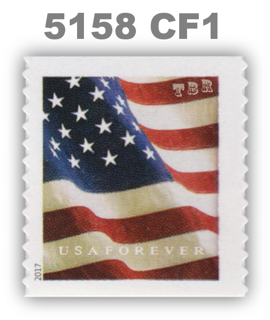 Details About 5158 Cf1 Single Postal Counterfeit Forever Flag Design Of 2017 Mnh Buy Now